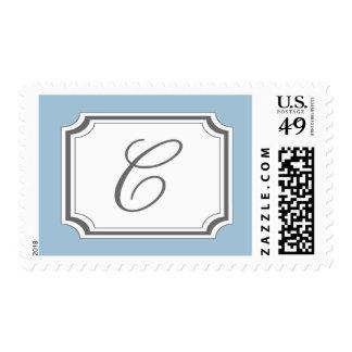 Monograma de C (suposición azul claro) Franqueo