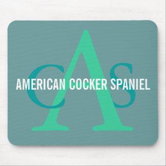 Monograma de cocker spaniel del americano alfombrillas de raton