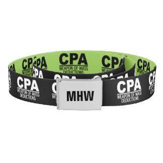 Monograma de CPA y correa de encargo del color