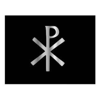 Monograma de Cristo - rho de la ji Tarjeta Postal