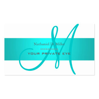 Monograma de DIY + color de fondo Plantilla De Tarjeta Personal