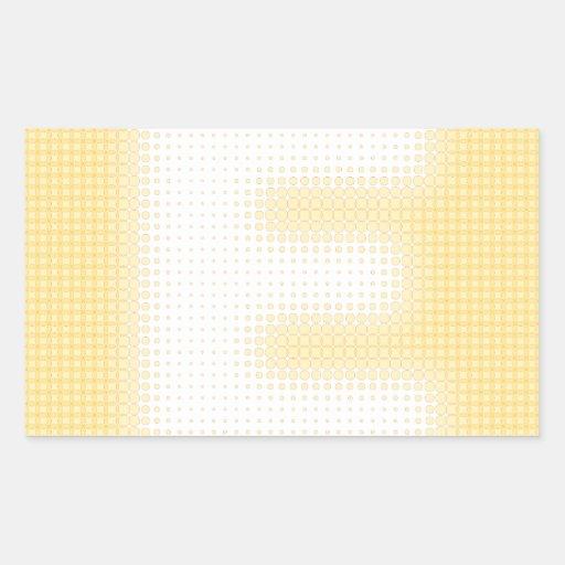 Monograma de E Pegatina Rectangular