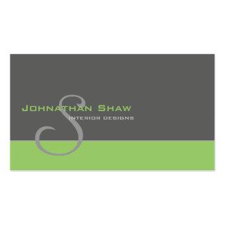 Monograma de encargo 1 tarjetas personales