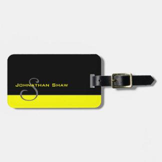 Monograma de encargo 5 (amarillo) etiquetas bolsa