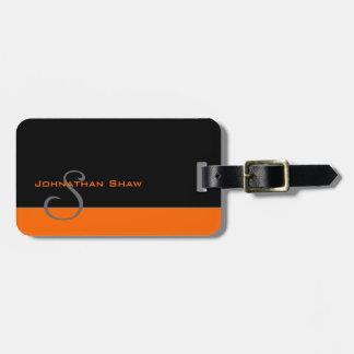 Monograma de encargo 5 (naranja) etiquetas bolsa