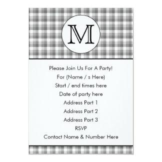 Monograma de encargo. Blanco y negro con el Comunicados Personalizados