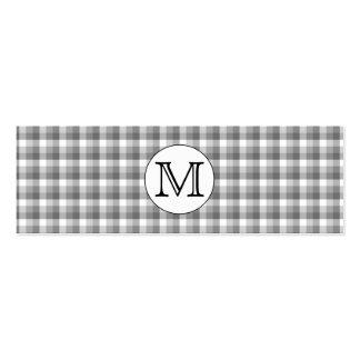 Monograma de encargo. Blanco y negro con el Tarjetas De Visita Mini