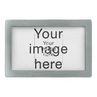 Monograma de encargo de plantilla en blanco en hebillas de cinturón rectangulares