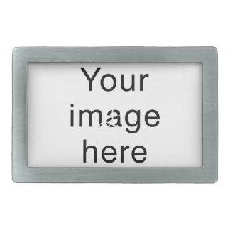 Monograma de encargo de plantilla en blanco para hebillas cinturon rectangulares