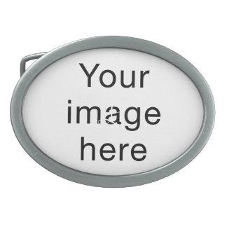 Monograma de encargo de plantilla en blanco para hebilla cinturón
