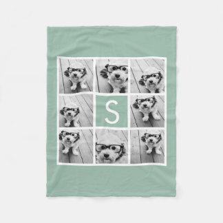 Monograma de encargo del collage de la foto - manta polar