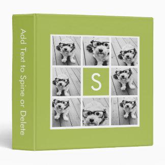 Monograma de encargo del collage de la foto - verd