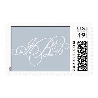 Monograma de encargo del gris azul sellos