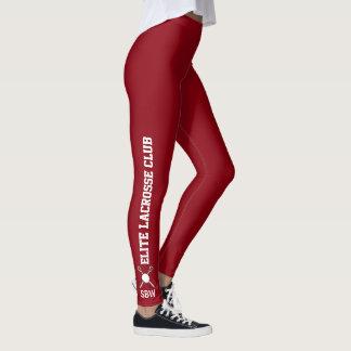 Monograma de encargo del nombre del equipo de las leggings