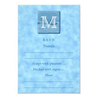 Monograma de encargo en la imagen azul de la