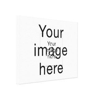 Monograma de encargo en lienzo en blanco impresión en lona
