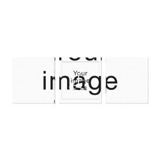 Monograma de encargo en lienzo en blanco lona envuelta para galerías