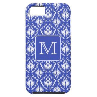 Monograma de encargo, en modelo azul y blanco del  iPhone 5 Case-Mate cárcasa