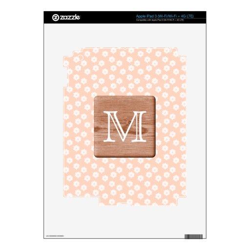 Monograma de encargo. Imagen de la madera, modelo  iPad 3 Skins