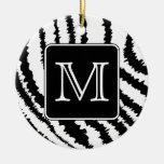 Monograma de encargo, impresión animal del modelo  ornamento para arbol de navidad