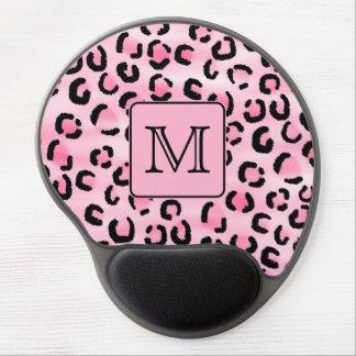 Monograma de encargo. Impresión negra y rosada del Alfombrilla De Ratón Con Gel