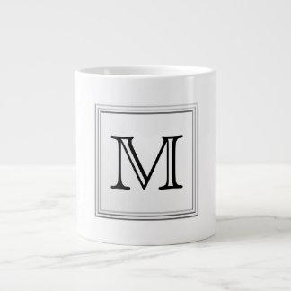 Monograma de encargo impreso. Blanco y negro. Tazas Jumbo