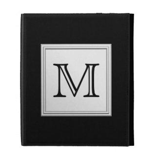 Monograma de encargo impreso. Gris negro y pálido