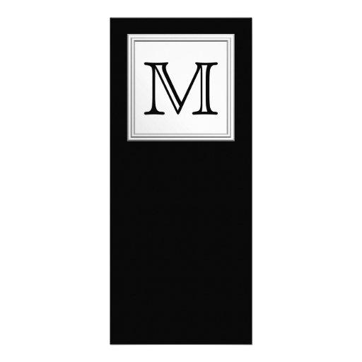 Monograma de encargo impreso. Gris negro y pálido Comunicados