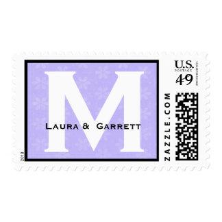 Monograma de encargo M o cualquier púrpura inicial