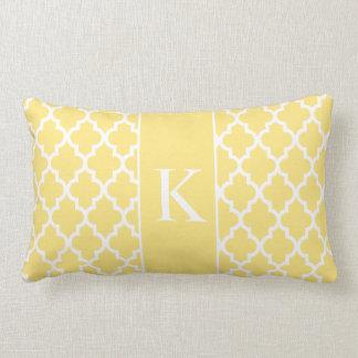 Monograma de encargo marroquí amarillo claro almohada