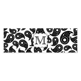 Monograma de encargo. Modelo blanco y negro de Tarjetas De Visita Mini