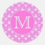 Monograma de encargo. Modelo blanco y rosado del d Etiqueta