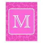 Monograma de encargo. Modelo rosado brillante de P Flyer Personalizado