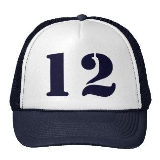 Monograma de encargo plantilla en blanco número 12 gorras