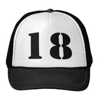 Monograma de encargo plantilla en blanco número 18 gorra