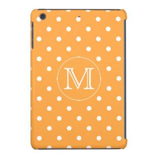 Monograma de encargo. Punto de polca anaranjado y  Funda De iPad Mini