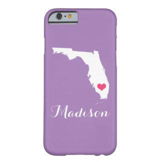 Monograma de encargo púrpura de la lila del funda de iPhone 6 barely there