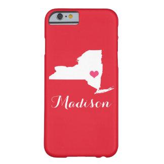 Monograma de encargo rojo del corazón de Nueva Funda Barely There iPhone 6