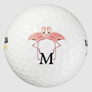 Monograma de encargo su y el suyo Lovebirds del Pack De Pelotas De Golf
