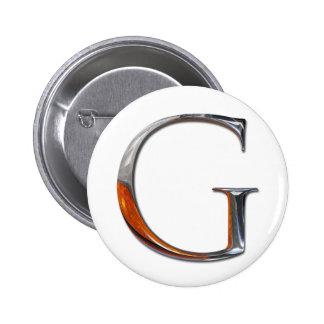 Monograma de G del metal Chapa Redonda 5 Cm