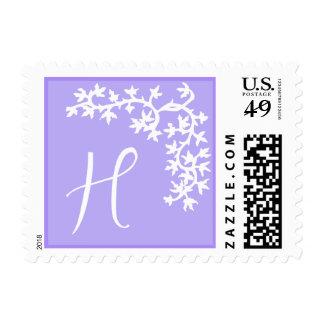 Monograma de H (esquina púrpura de la hiedra) Sellos