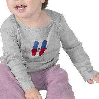 Monograma de H (Haití) Camisetas