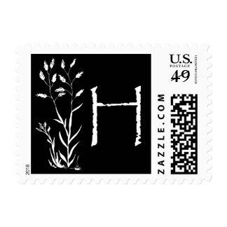 Monograma de H (planta negra de la lavanda) Franqueo