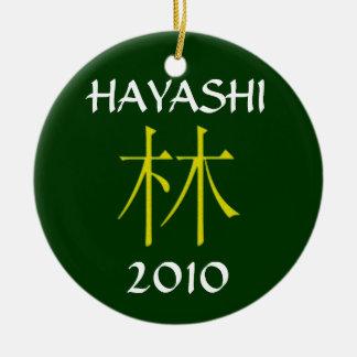 Monograma de Hiyashi Adorno Navideño Redondo De Cerámica
