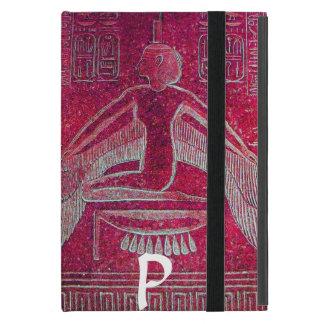 MONOGRAMA de ISIS, rojo antiguo iPad Mini Funda