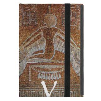 MONOGRAMA de ISIS, sepia antigua de Brown iPad Mini Cobertura