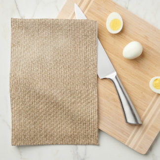 Monograma de la arpillera toallas de mano