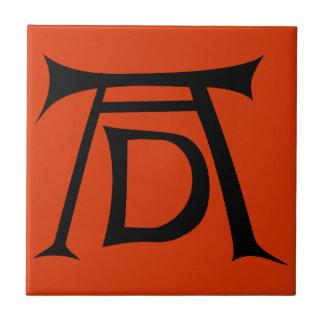 Monograma de la firma de Albrecht Durer Azulejo Cerámica