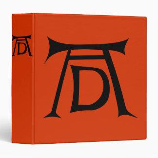 "Monograma de la firma de Albrecht Durer Carpeta 1 1/2"""
