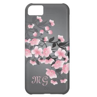 Monograma de la flor de cerezo (Sakura) Funda Para iPhone 5C